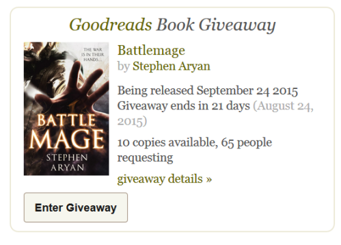 Goodreads Giveaway