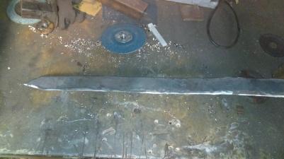 Hammered steel